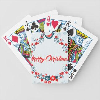 merry christmas christmas greeting bicycle playing cards