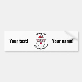 Merry Christmas, Christmas Santa Claus 2.T.(P) Bumper Sticker