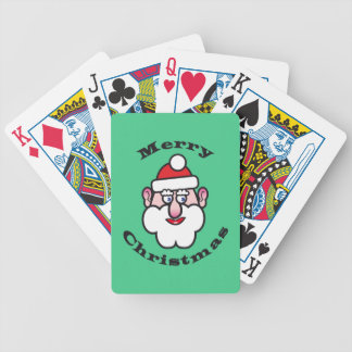Merry Christmas, Christmas Santa Claus Bicycle Playing Cards
