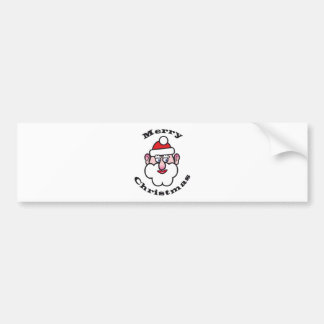 Merry Christmas, Christmas Santa Claus Bumper Sticker