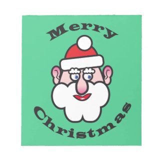 Merry Christmas, Christmas Santa Claus Notepad