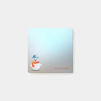 Merry Christmas,Christmas Snowman -Personalized Post-it Notes