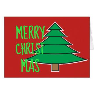 Merry Christmas Christmas Tree Holiday Card