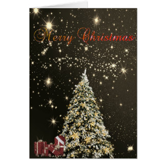 Merry Christmas,Christmas Trees ,Presents Card
