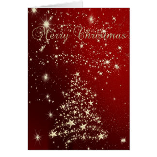 Merry Christmas,Christmas Trees ,Stars Card