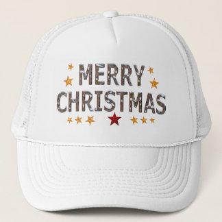 Merry Christmas Chrome Trucker Hat