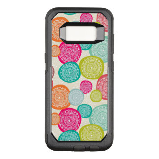 Merry Christmas Circle Pattern OtterBox Commuter Samsung Galaxy S8 Case