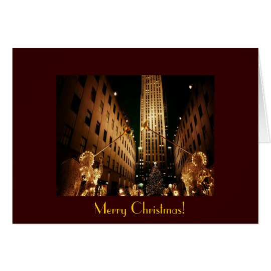 Merry Christmas - Classic Christmas Tree & Angels Card