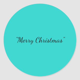 Merry Christmas Classic Round Sticker