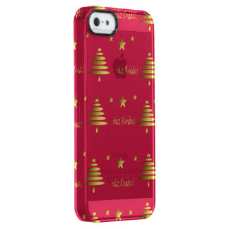 Merry Christmas Clear iPhone SE/5/5s Case