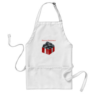Merry Christmas Coal Present Standard Apron