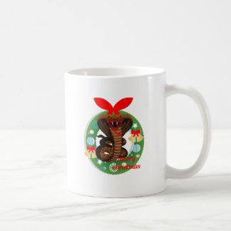 merry christmas cobra snake coffee mug