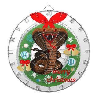 merry christmas cobra snake dartboard