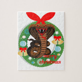 merry christmas cobra snake jigsaw puzzle