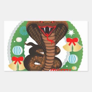merry christmas cobra snake sticker