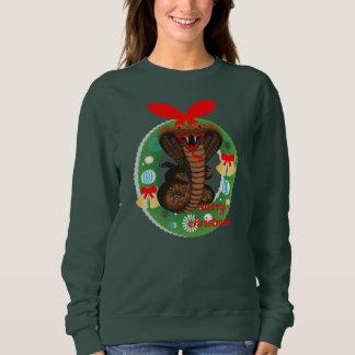 merry christmas cobra snake sweatshirt