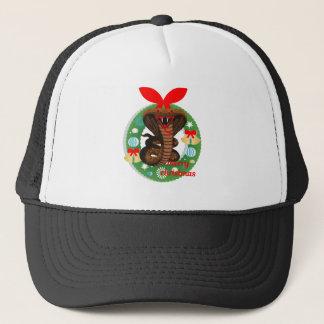 merry christmas cobra snake trucker hat