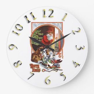 Merry Christmas colorful Clock