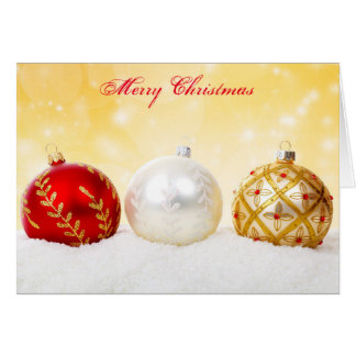 Merry Christmas Colorful Ornaments Holiday Card