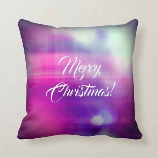 Merry Christmas Colourful Design Texture Throw Pillow