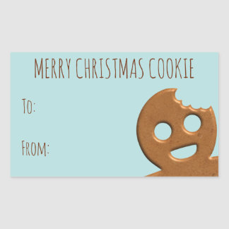 Merry Christmas Cookie Cute Gingerbread Man Gift