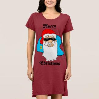 Merry Christmas Cool Santa In Sunglasses Dress
