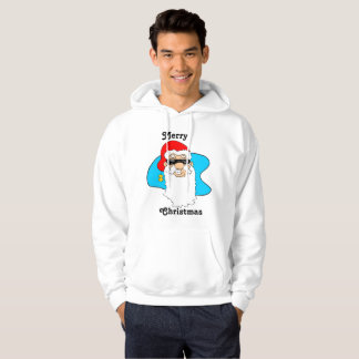 Merry Christmas Cool Santa In Sunglasses Hoodie
