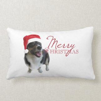 Merry Christmas Corgi Lumbar Pillow