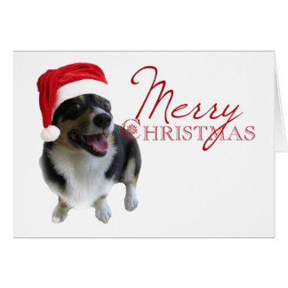 Merry Christmas Corgi Santa Card