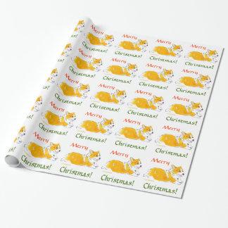 Merry Christmas Corgi Wrapping Paper