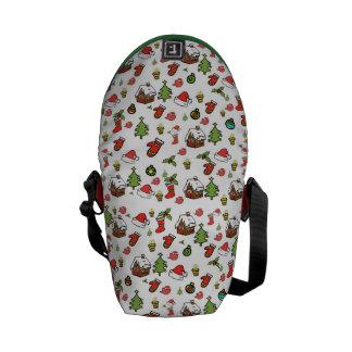 Merry Christmas Courier Bag