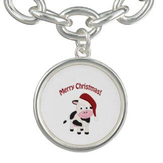 Merry Christmas Cow Charm Bracelets