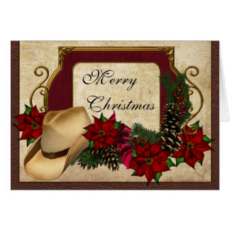 Merry Christmas Cowboy (cowgirl) greeting Card