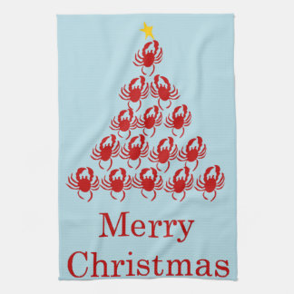 Merry Christmas Crab Kitchen Towel