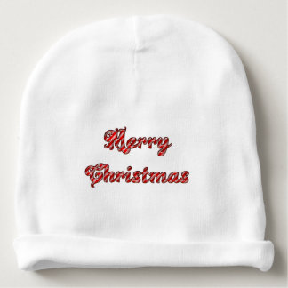 Merry Christmas Custom Baby Cotton Beanie Baby Beanie