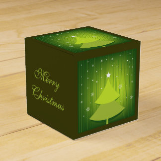 Merry Christmas Custom Classic 2x2 Favour Box Wedding Favor Boxes