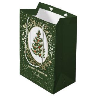 Merry Christmas. Custom Name Paper Gift Bags