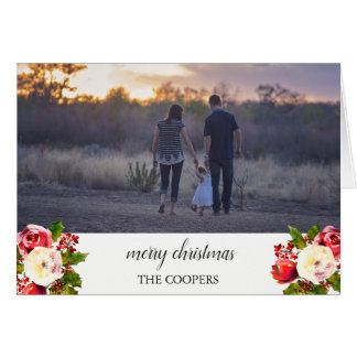Merry Christmas Custom Photo Picture Greeting Card