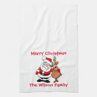 Merry Christmas Custom Tea Towel