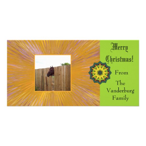 Merry Christmas Customizable Card (2) Photo Card Template