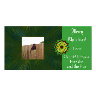 Merry Christmas Customizable Card Photo Card Template