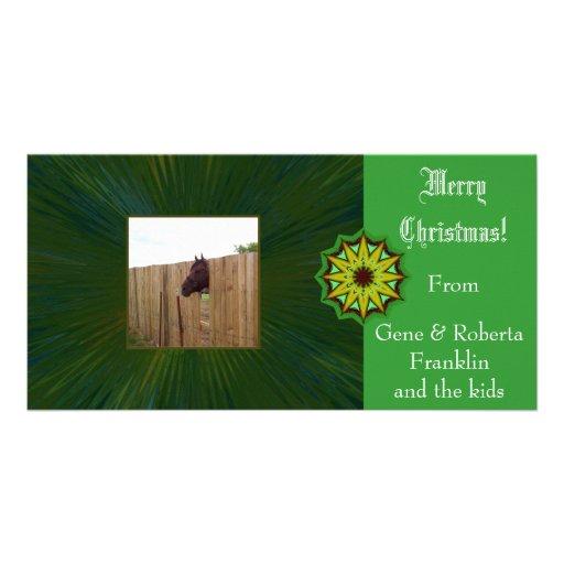 Merry Christmas Customizable Card Photo Card Template