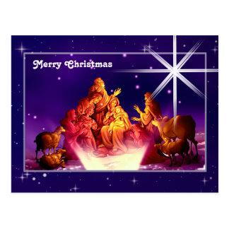 Merry Christmas. Customizable Christmas Postcard