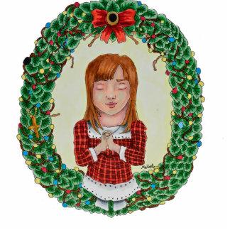 Merry Christmas Cut-Out ornament Photo Sculpture Ornament