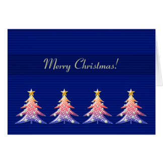Merry Christmas | Cute Christmas trees pattern Card