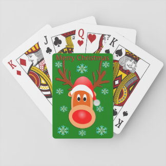 Merry Christmas Cute Deer Playing Cards
