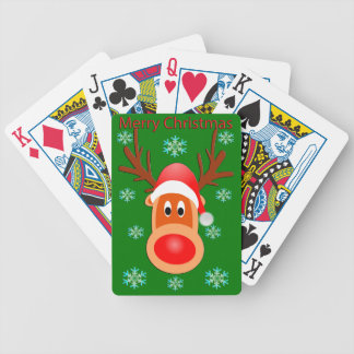 Merry Christmas Cute Deer Poker Playing Cards