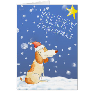 Merry Christmas - Cute dog Card