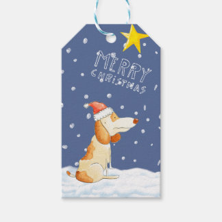 Merry Christmas - Cute dog Gift Tags