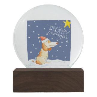Merry Christmas - Cute dog Snow Globe
